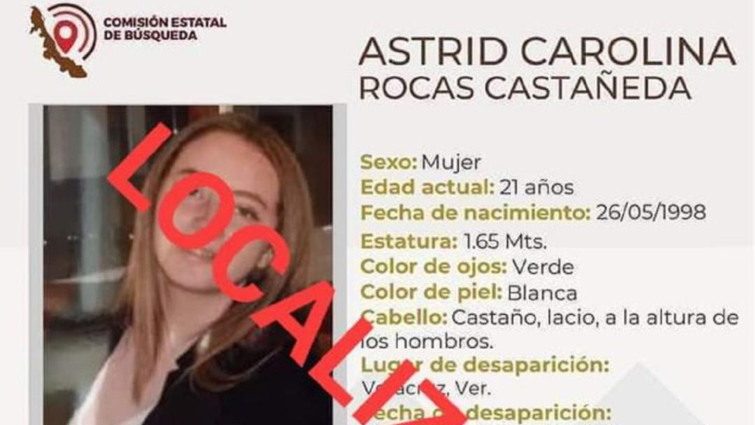 Encuentran con vida a Astrid y a otro joven desaparecido en Veracruz