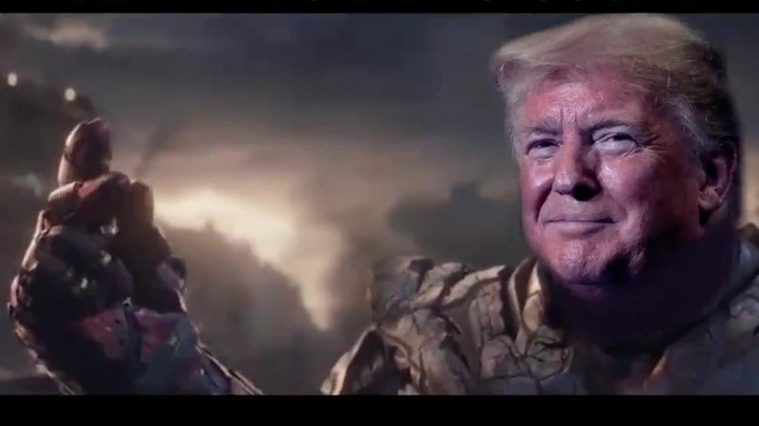 Trump desaparece a los demócratas de un chasquido como si fuera Thanos