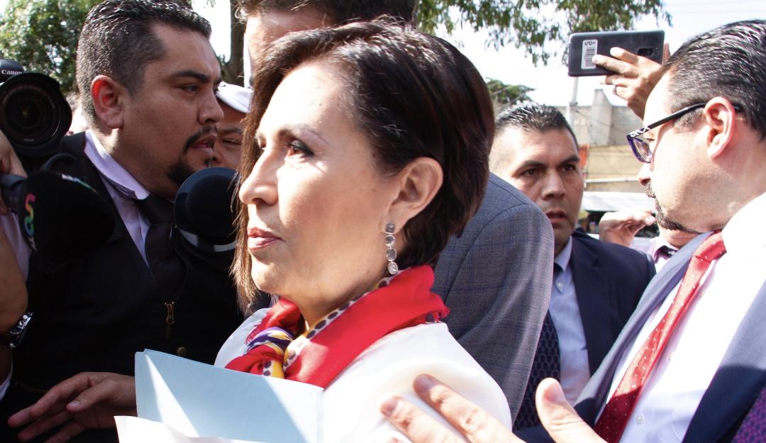 Rosario Robles comparece ante diputados a través de sus abogados