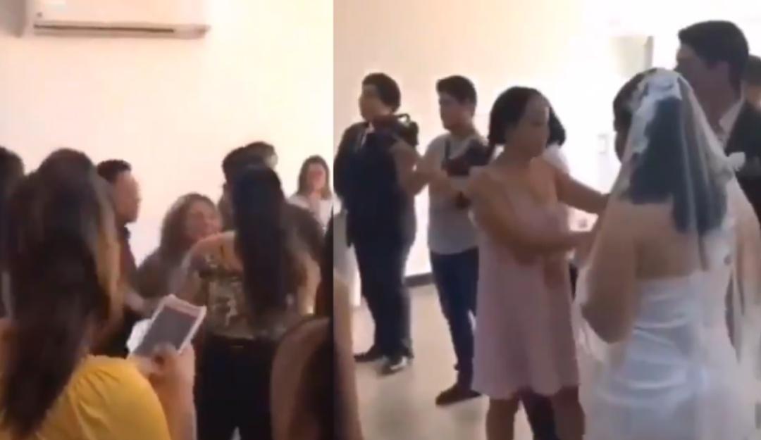 Mujer se aparece en boda de su ex para impedirla