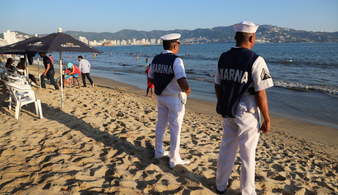 Aplican operativo de seguridad en playas por vacaciones