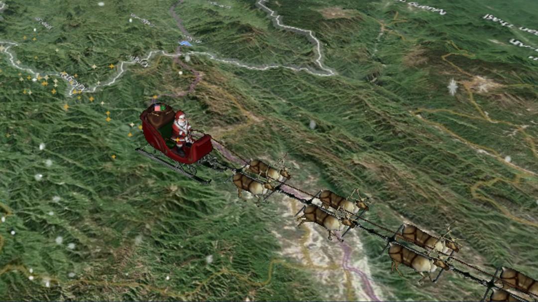 Aquí puedes seguir la ruta de Santa Claus esta Nochebuena