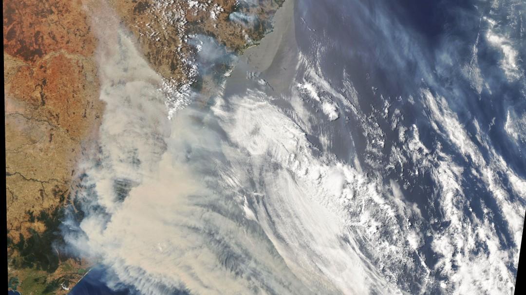NASA capta incendios de Australia
