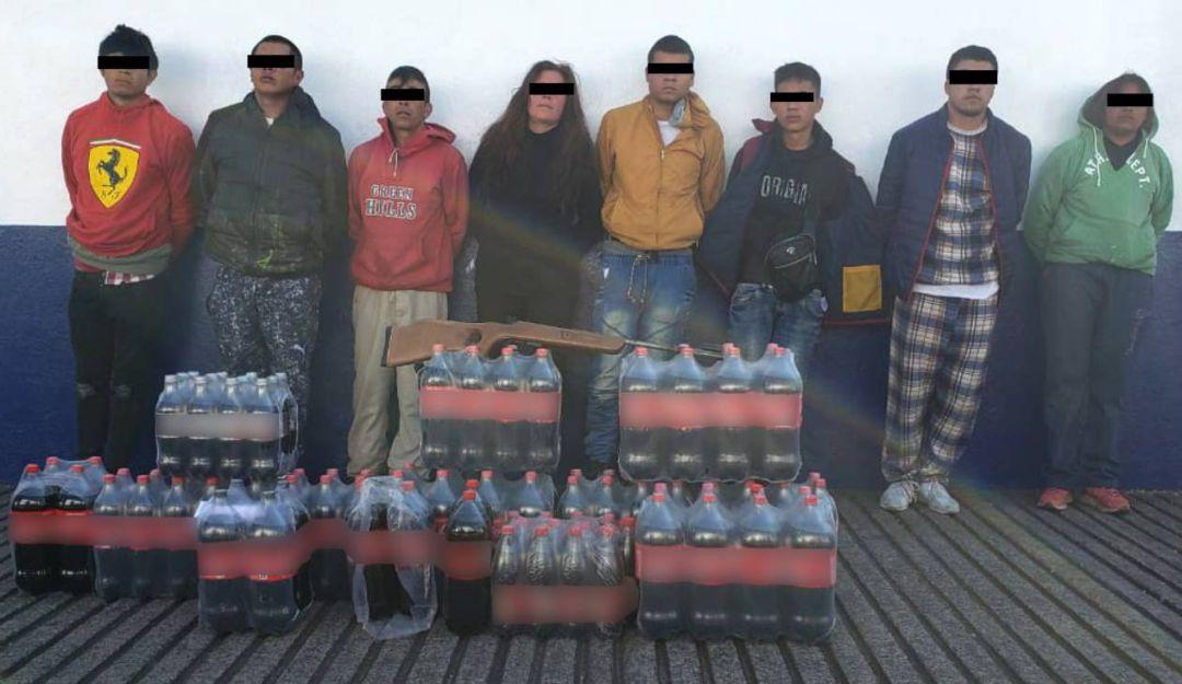 Capturan a 8 presuntos extorsionadores en Tlalpan