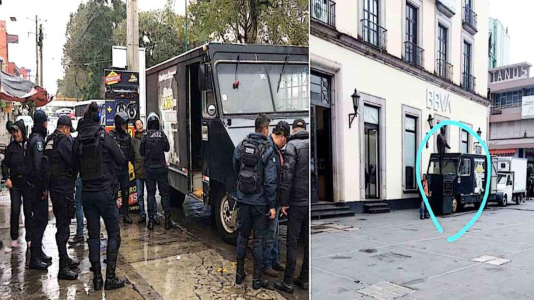 Aseguran camioneta robada utilizada por PRD para manifestarse