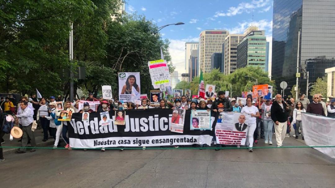 Marcha Caravana por la Verdad, la Justicia y la Paz, sobre Reforma