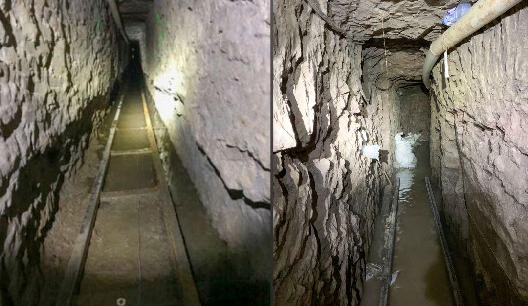 Así es el túnel descubierto en la frontera entre Estados Unidos y México