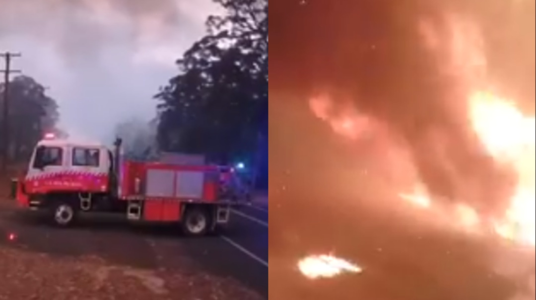 Bomberos huyen de incendio en Australia que arrasa en 3 minutos con todo