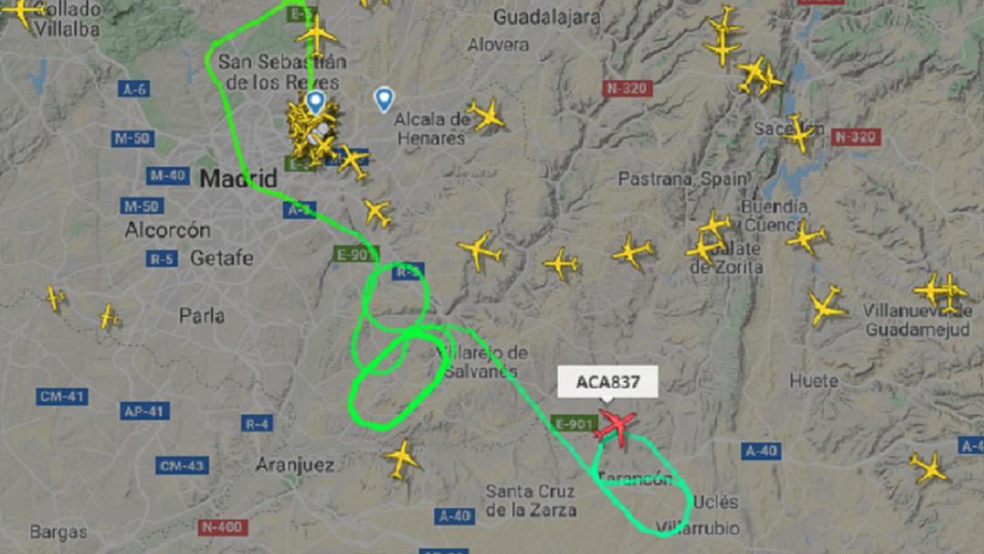 Avión Air Canada logra aterrizar en Barajas
