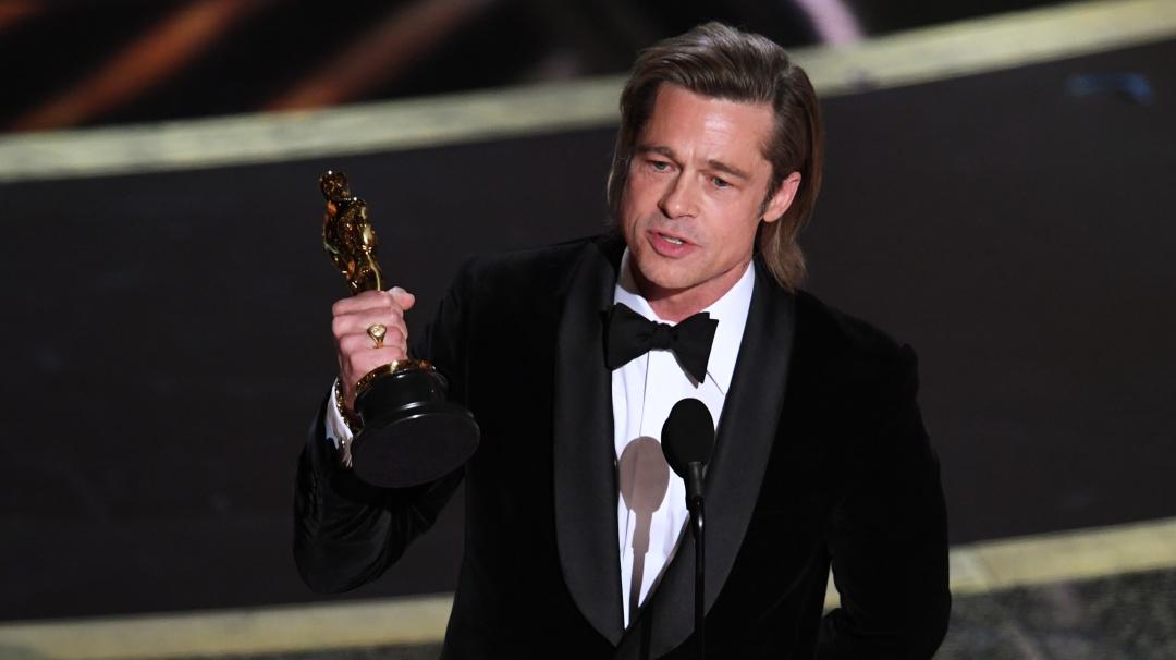 Brad Pitt por fin gana su primer Oscar como Mejor Actor de Reparto