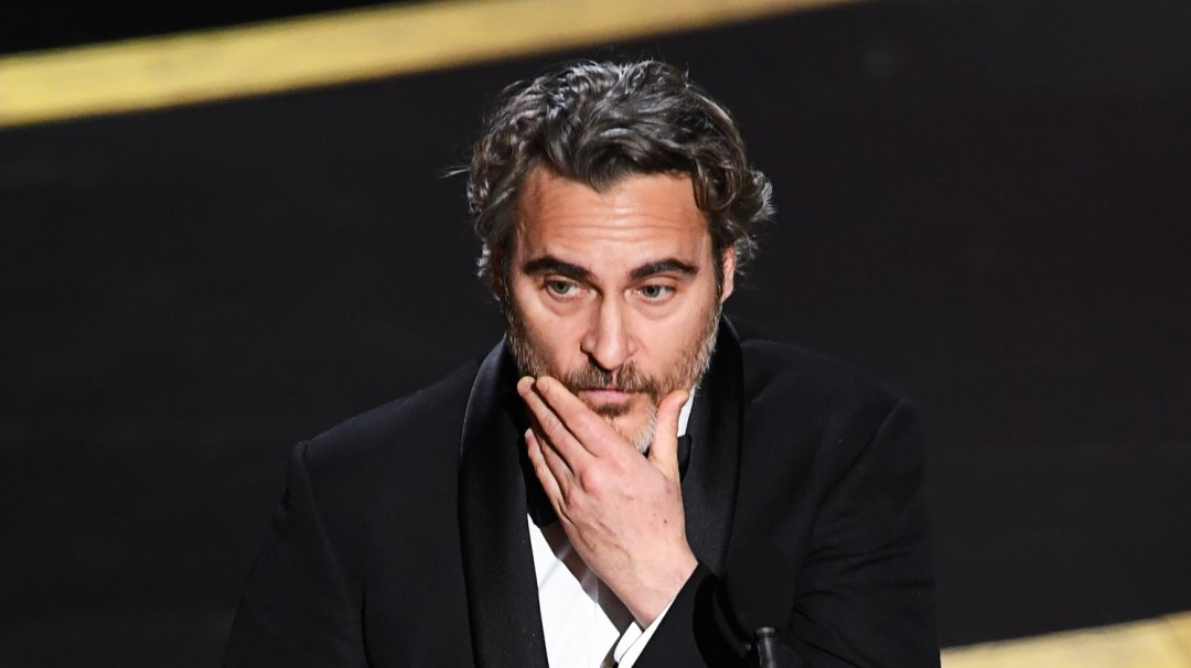 El emotivo discurso de Joaquin Phoenix al recibir el Oscar por mejor actor