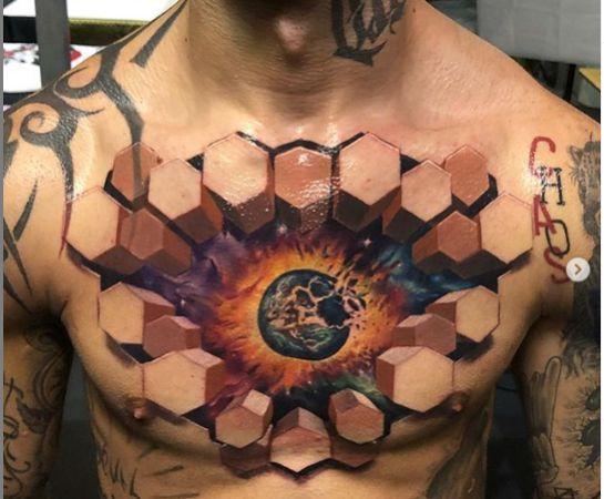 Jesse Rix, el artista del tatuaje que transforma la piel en escenas 3D