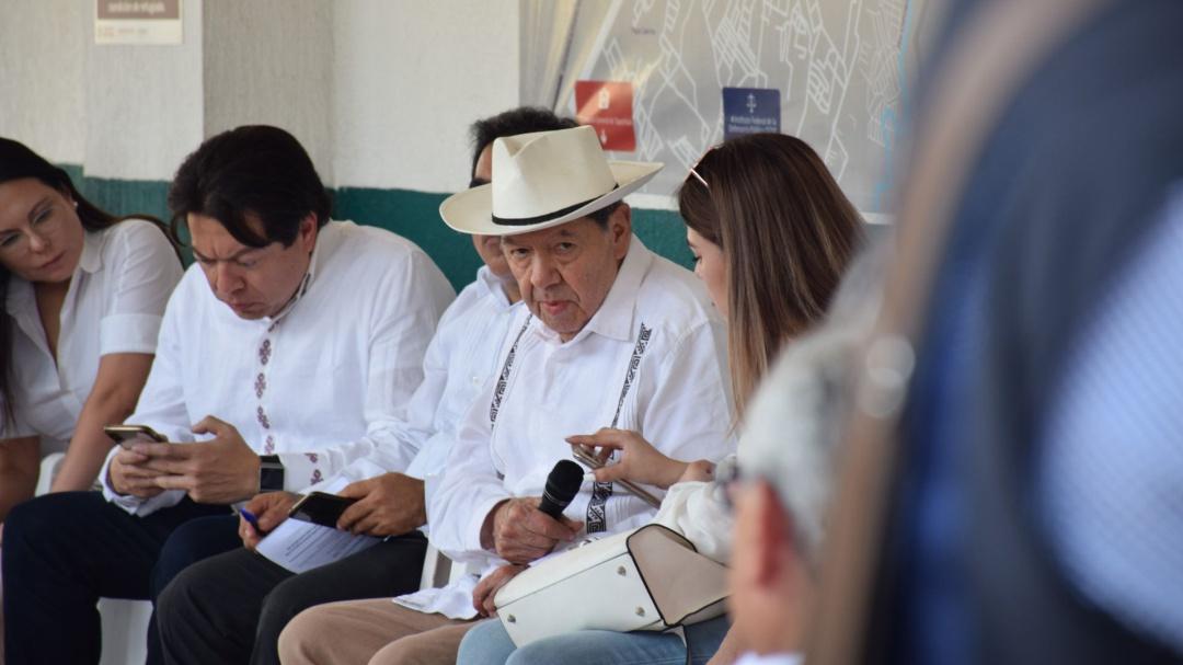 INM presume estación migratoria, todo está maquillado refuta Muñoz Ledo