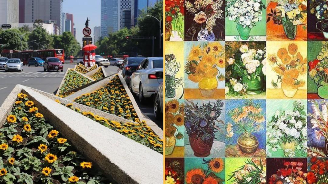 Mira cómo los Giralores tapizan Reforma con motivo de Van Gogh Alive