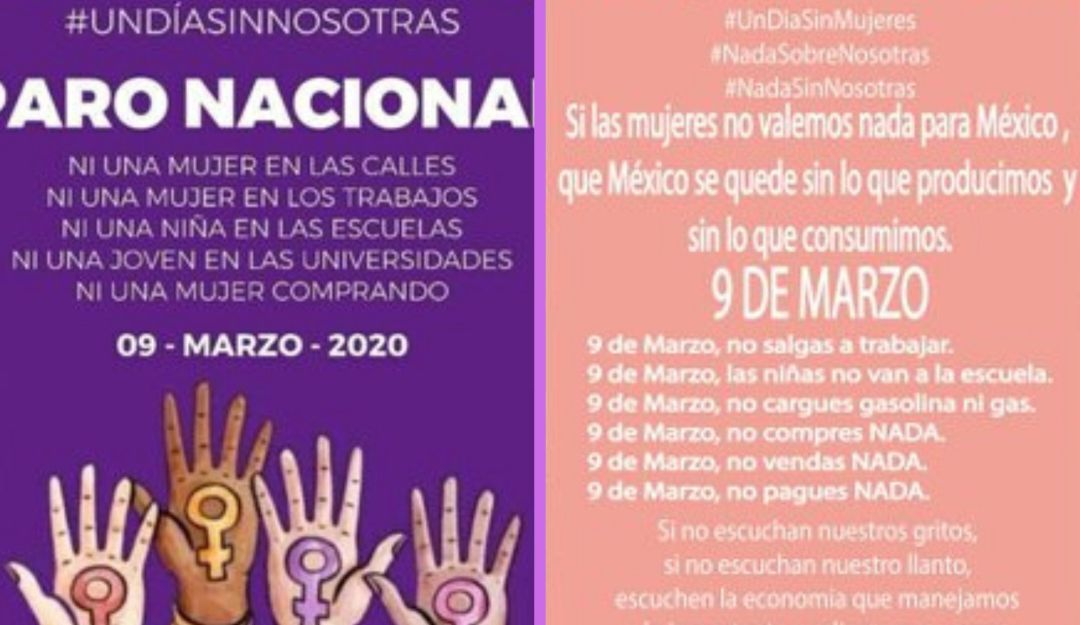 """Mujeres convocan a Paro Nacional """"Un día sin mujeres"""""""