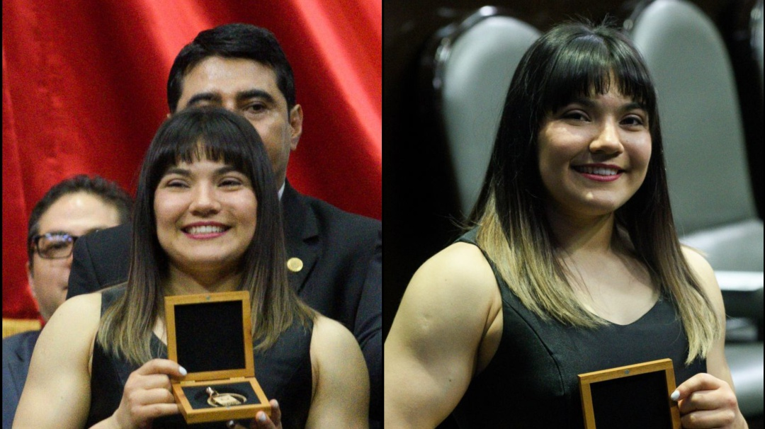 Una joven dejando huella; Alexa Moreno recibe medalla al Mérito Deportivo