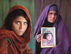 ras una intensa búsqueda, el fotógrafo y un equipo de National Geographic la encontraron 17 años más tarde