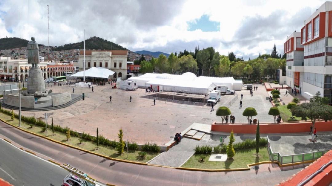 Con hospital inflable atenderían coronavirus en Hidalgo