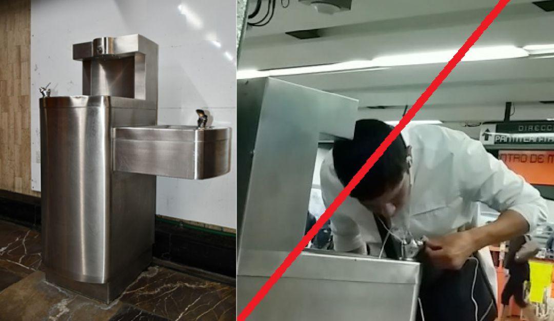 Metro suspende servicio de bebederos