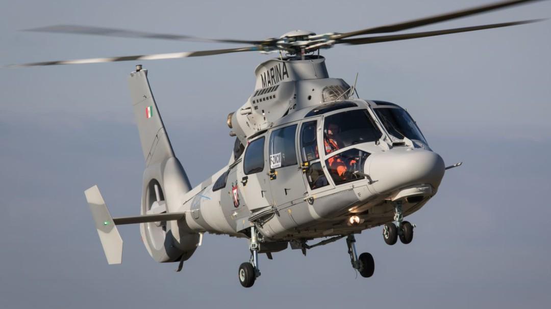 Se desploma helicóptero de la Marina en Veracruz