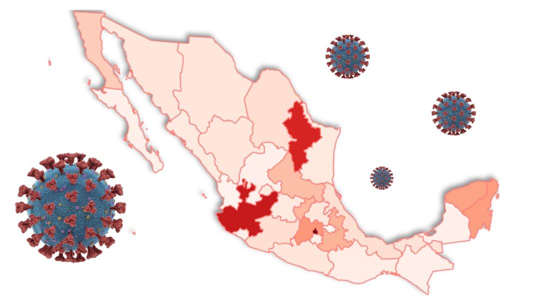 Mapa: Así el coronavirus se ha expandido por México