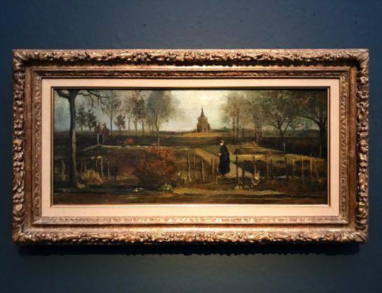 """La pintura """"Lentetuin"""" de 1884, que muestra el jardín de primavera de la casa parroquial en Neunen, había sido prestado por el Museo Groninger, de Holanda."""