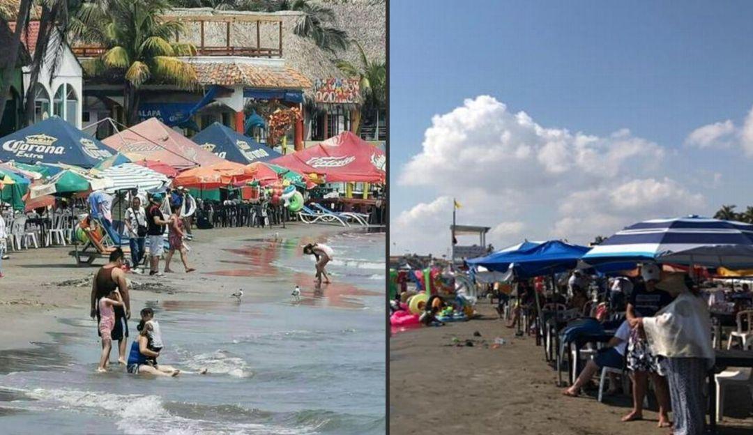 Estas playas recibieron vacacionistas en plena contingencia sanitaria