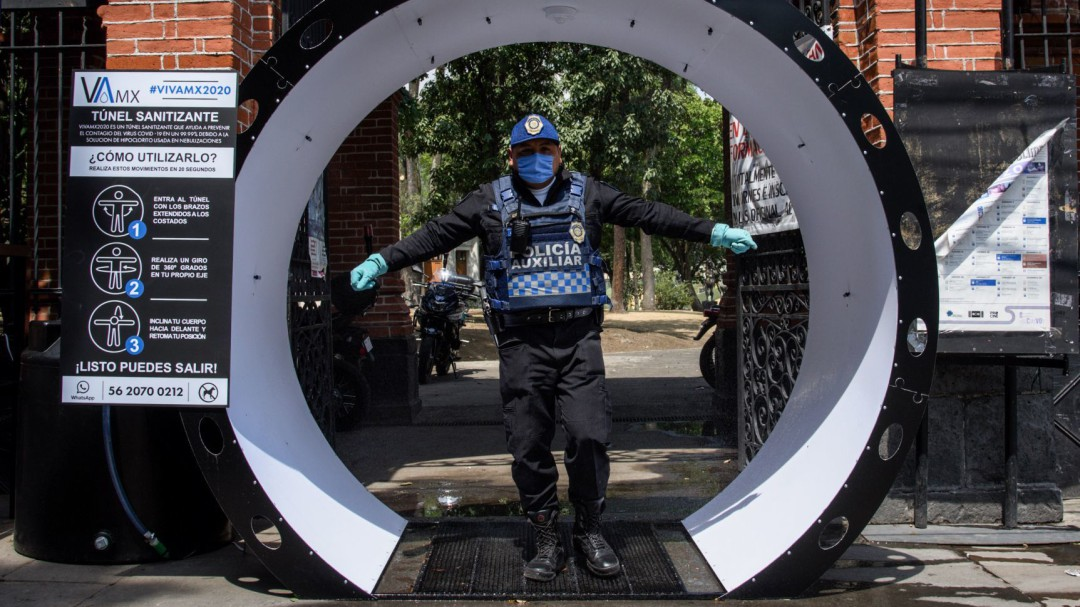 SSa desaprueba uso de túneles y arcos sanitizantes