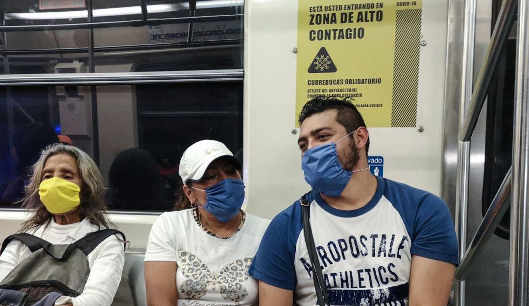 Metro inicia campaña para usuarios que no usan cubrebocas