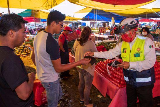 Se llevó a cabo proceso de sanitización en el mercado de Jamaica