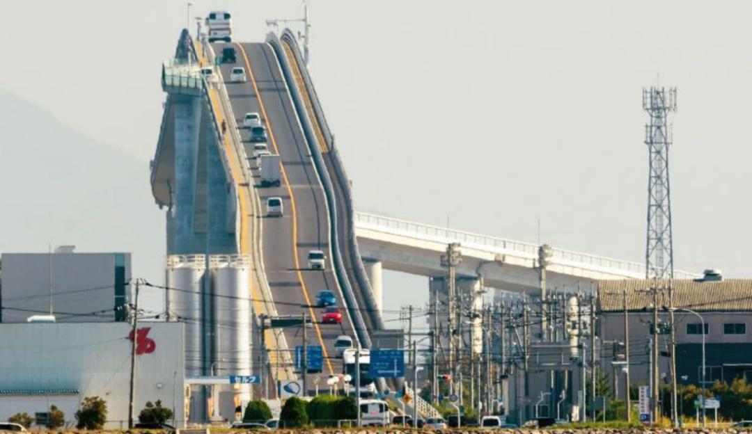 El inigualable puente de Japón que parece una montaña rusa