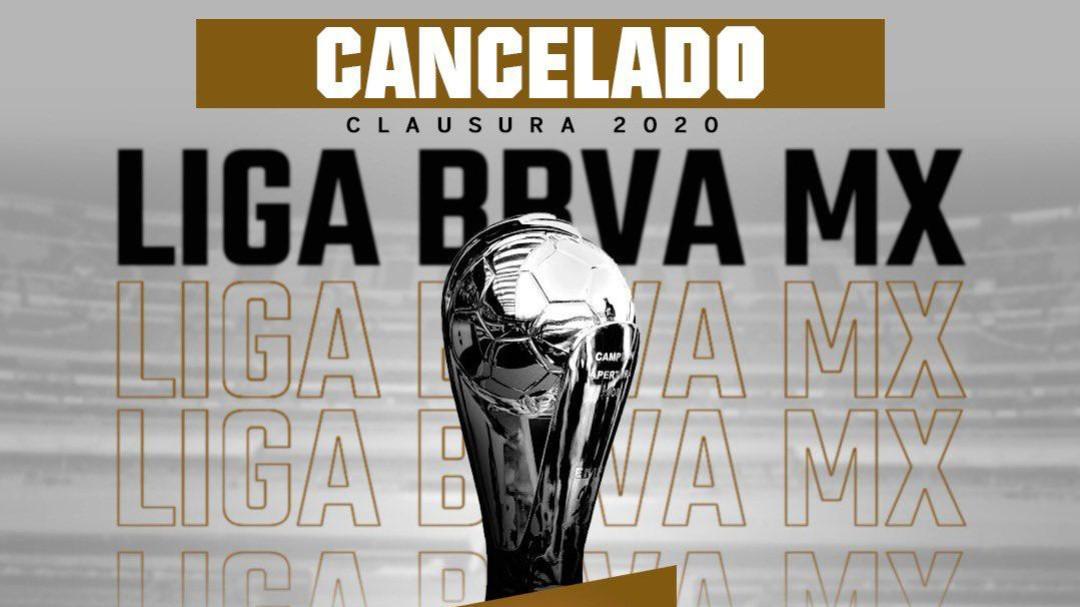 Se cancela el Clausura 2020 a causa del Covid-19
