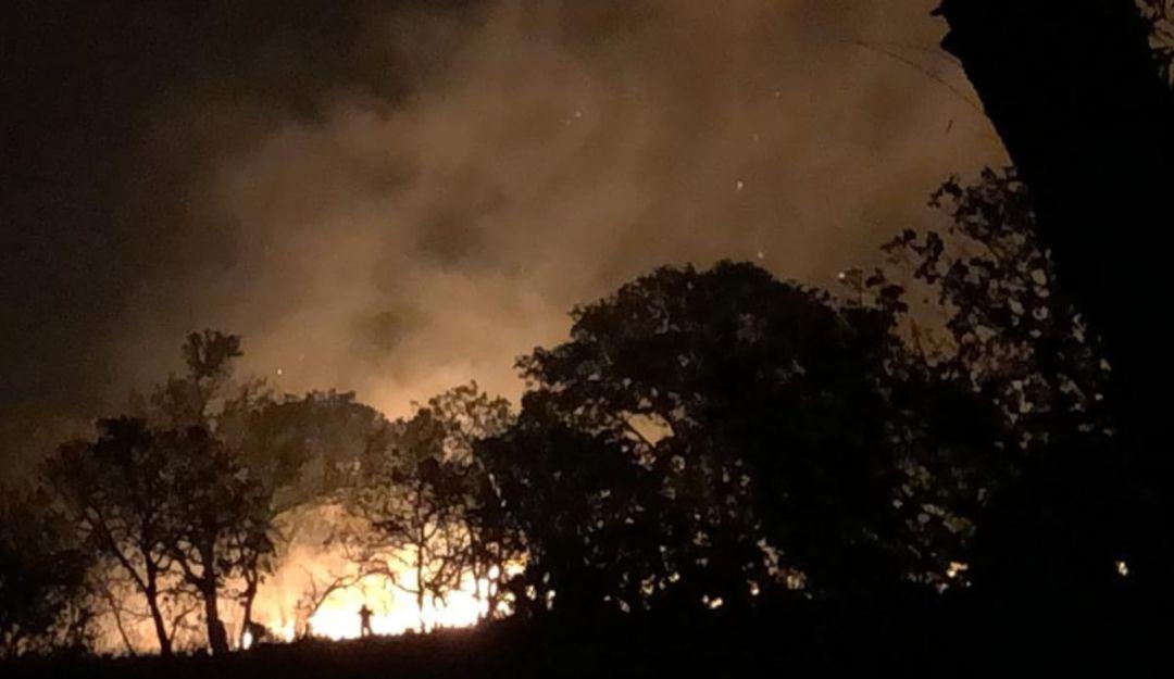 Controlan incendio en el Tepopote