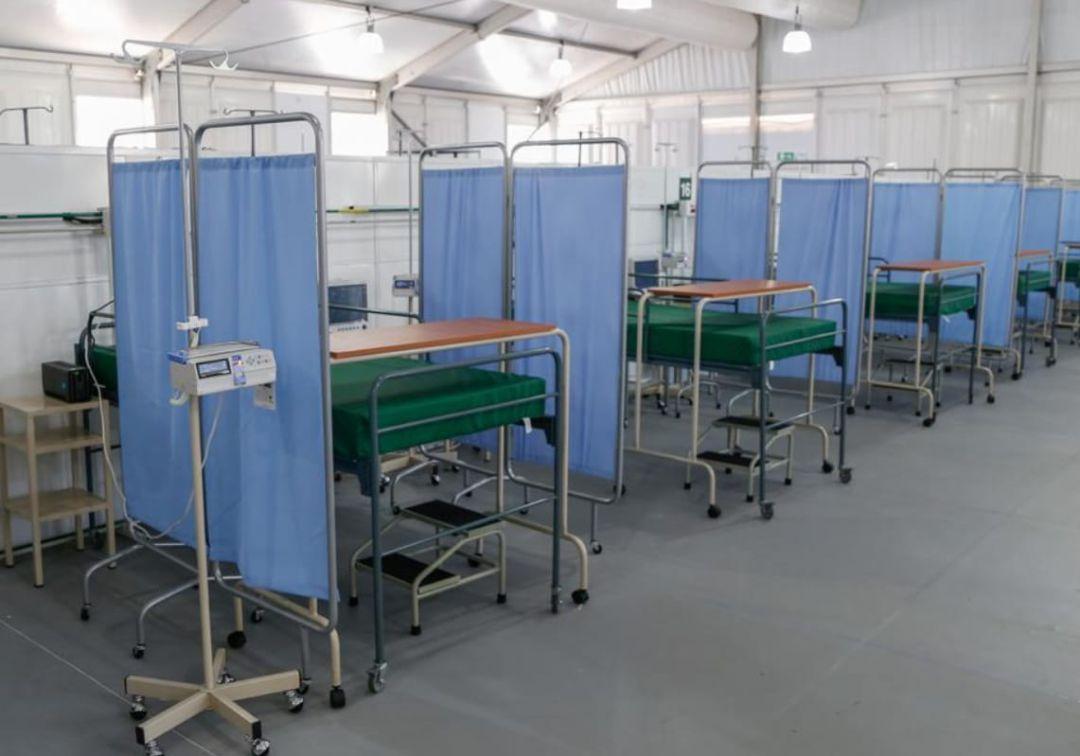 Casi listo hospital para pacientes de COVID 19