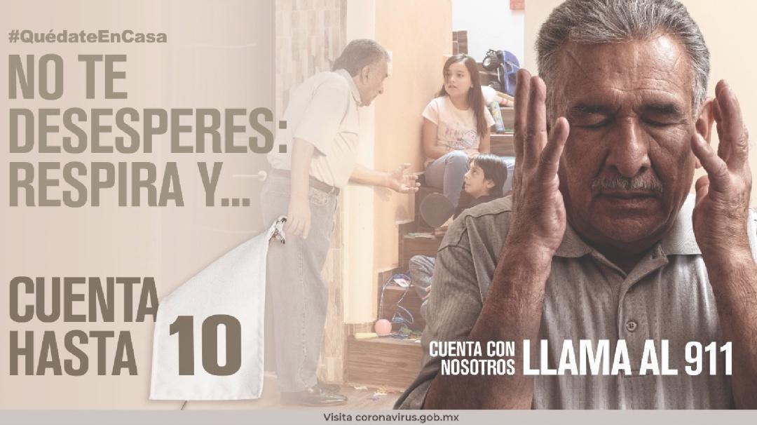 """Presenta Segob campaña """"Cuenta hasta 10"""", contra la violencia intrafamiliar"""