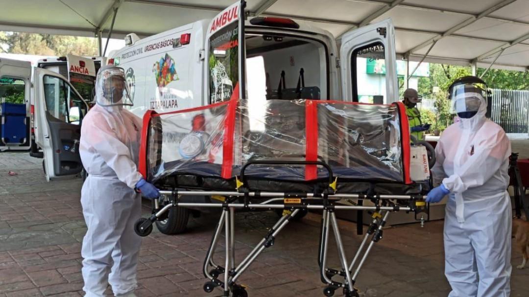 Llegan cápsulas Covid para emergencias de Iztapalapa