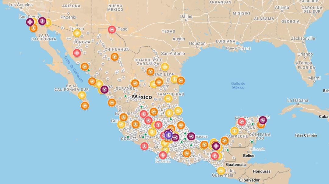 Mapa de contagios de coronavirus COVID-19 hoy jueves 28 de mayo