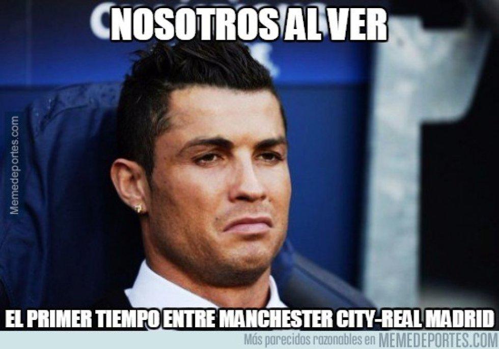 Cristiano Ronaldo no pudo jugar debido a una molestia en el muslo que padece desde la semana pasada