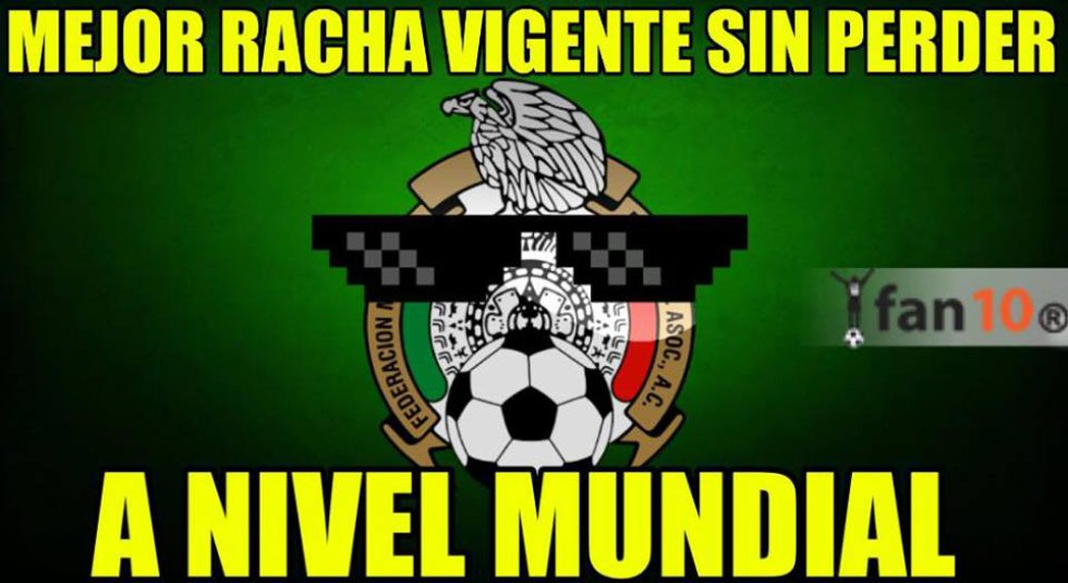 Con la victoria ante el conjunto sudamericano, la Selección Mexicana sumó 19 juegos sin conocer la derrota