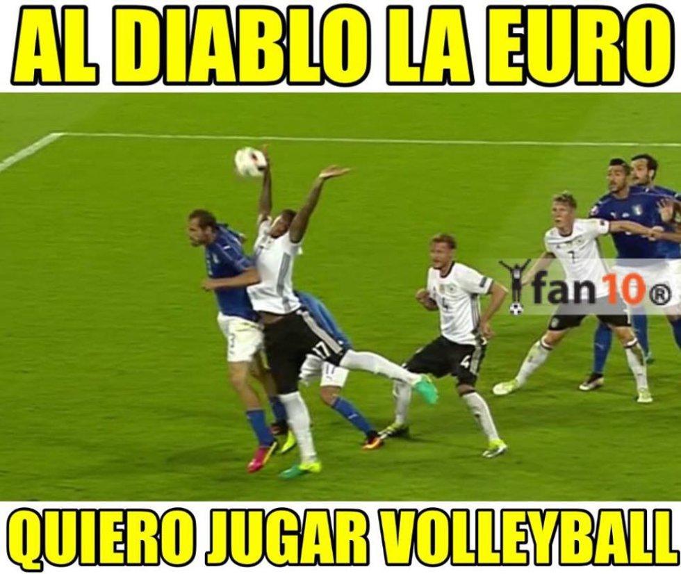 Los mejores memes del partido entre Alemania e Italia