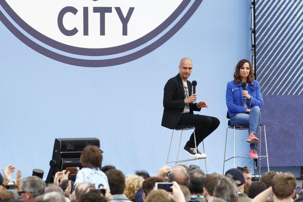 La presentación de Pep Guardiola como entrenador del Manchester City