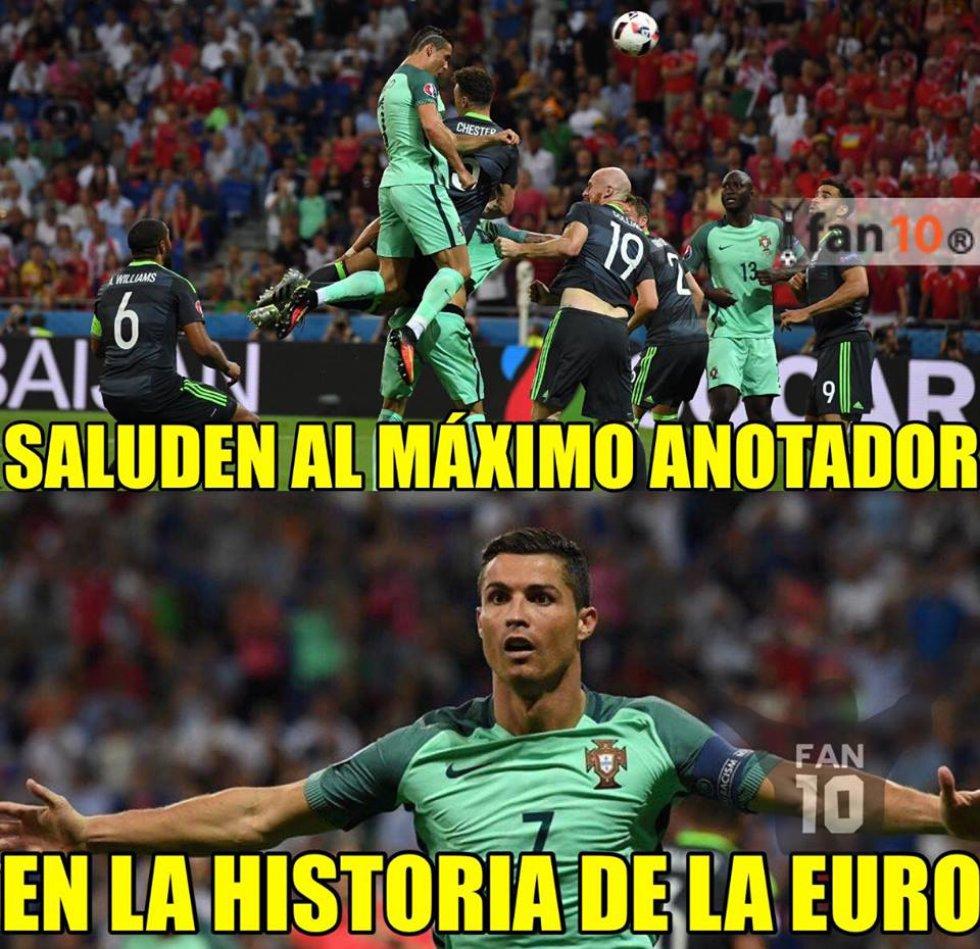 Los memes de la primera semifinal de la Eurocopa entre Portugal y Gales