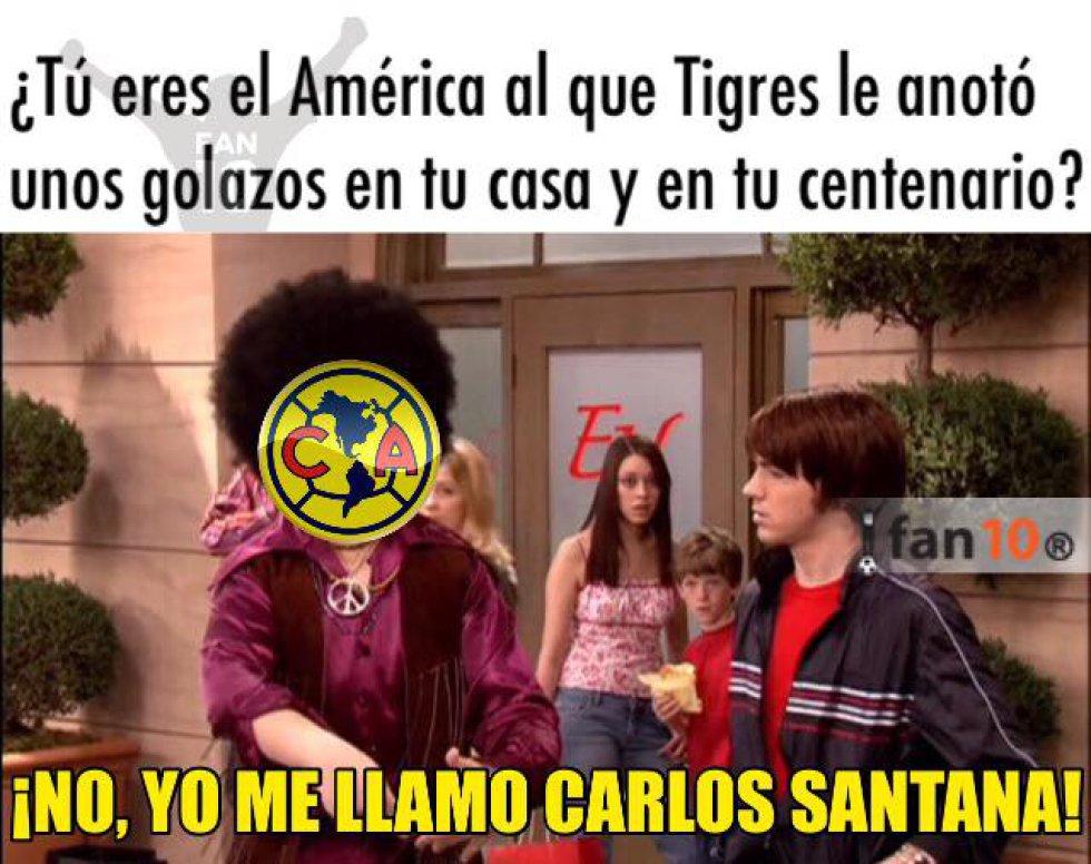 Tigres termina con el invicto del América y los memes no tardan en llegar