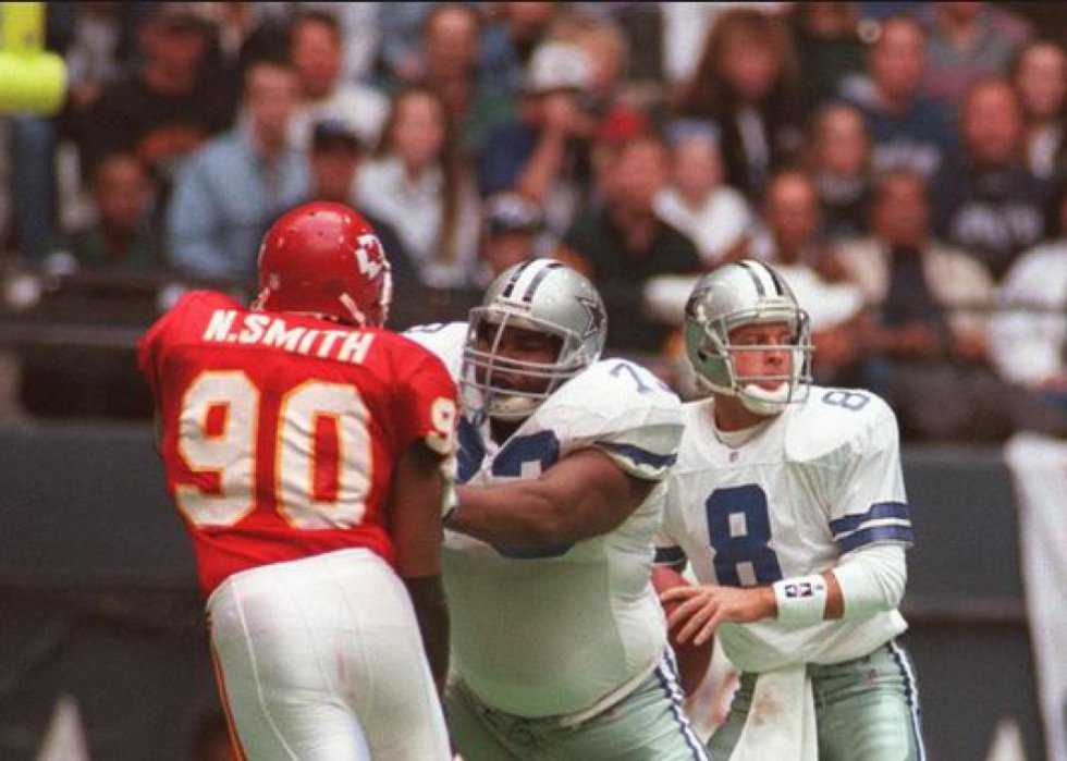 En 1996, Kansas City no tuvo piedad de Dallas, a quien derrotó 32-6
