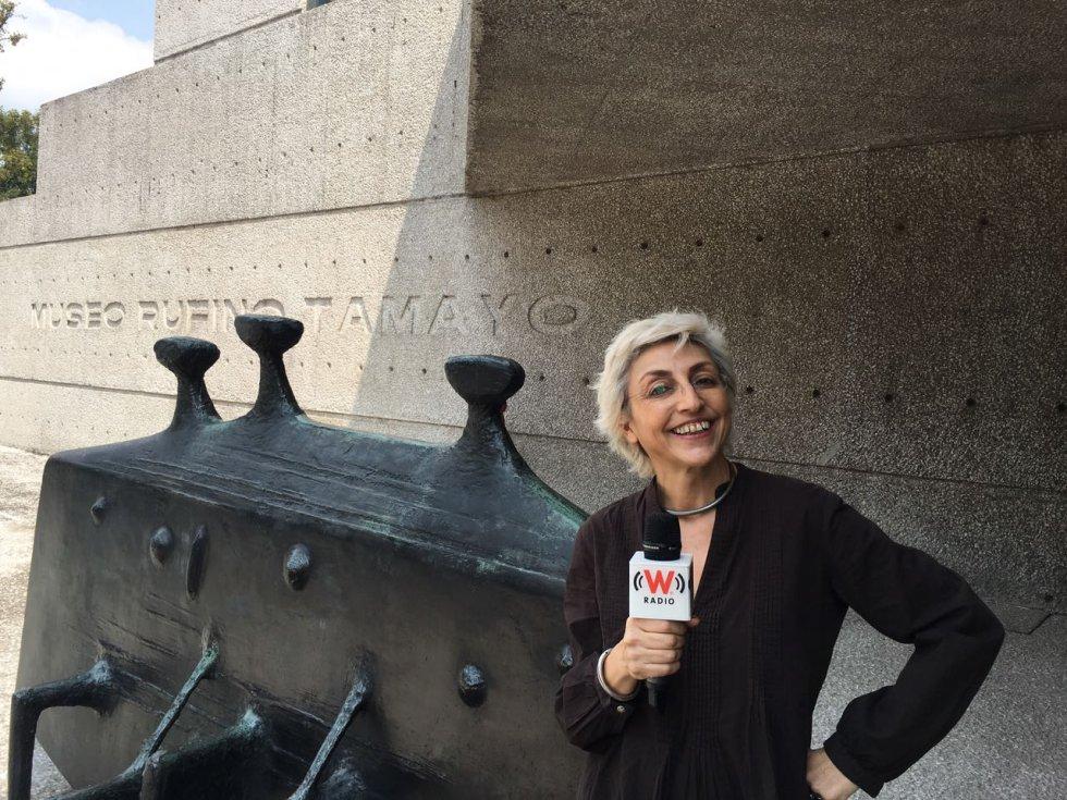 Fernanda Tapia en el Museo Rufino Tamayo