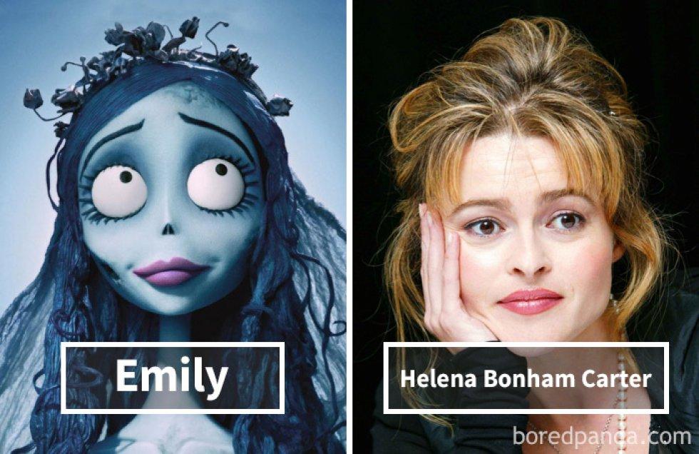 Los rostros originales de los personajes de animación más famosos