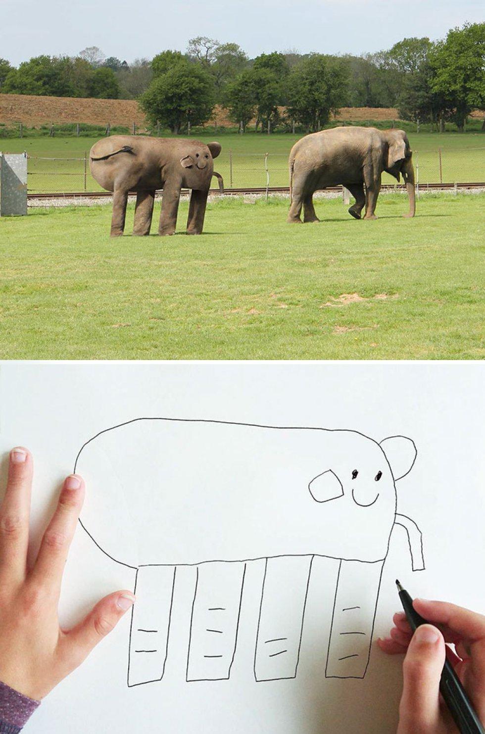 Convierte en realidad los dibujos de su hijo y el resultado es bastante gracioso