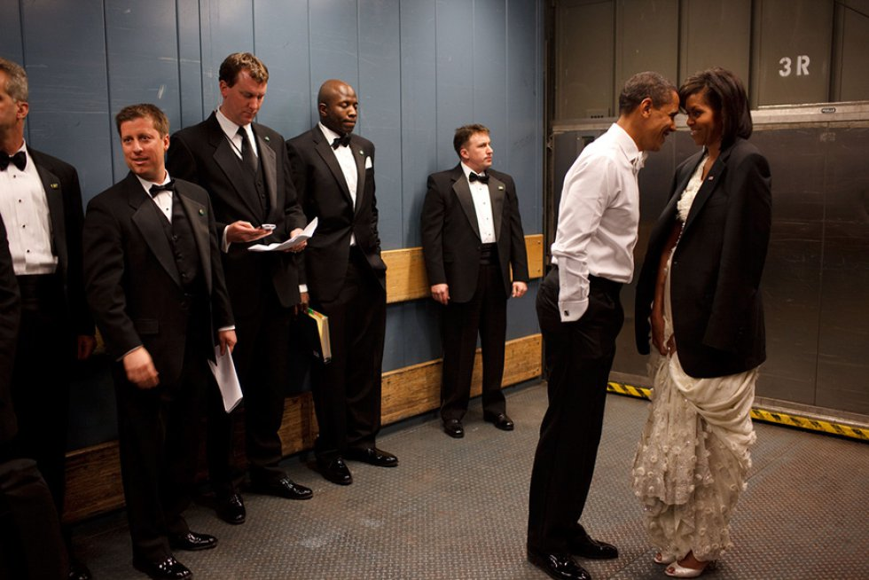 Compartiendo un momento con Michelle Obama