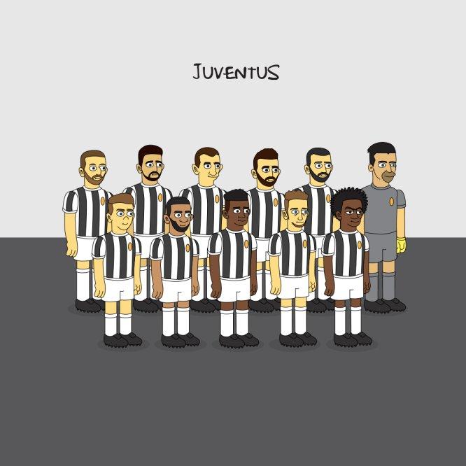 Futbolistas y equipos europeos al estilo de Los Simpson