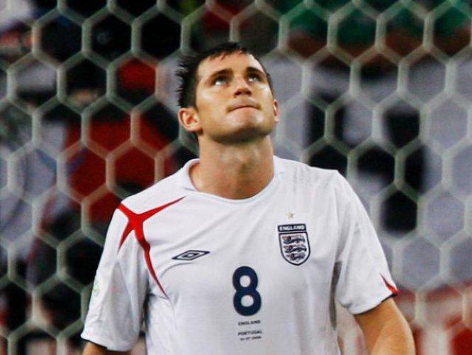 Alemania 2006 fue el primer Mundial que disputó Lampard. Inglaterra fue eliminada por Portugal en cuartos de final